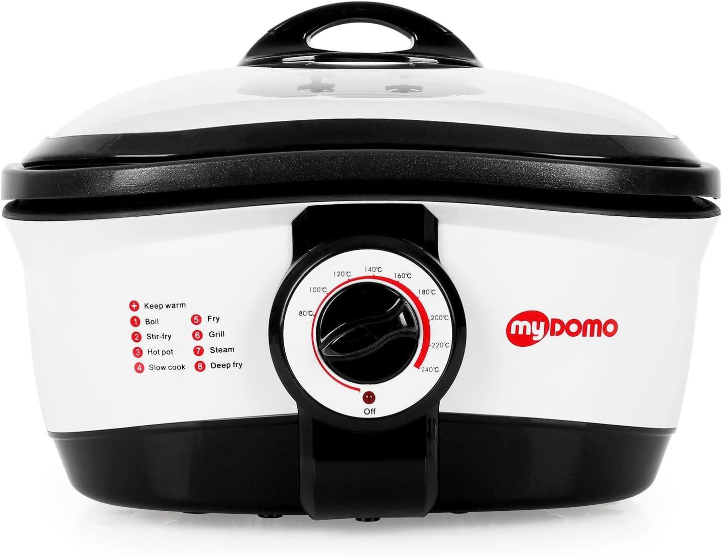myDOMO MF-01 Cooking Master 8 en 1 Olla multifunción (5L, 1500W, 8 programas, recipiente de aluminio desmontable, función mantenimiento calor): Amazon.es: Hogar