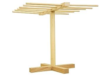 Estante de madera de haya natural para secado de pastas, soporte para cocina y fideos, fácil almacenamiento: Amazon.es: Hogar
