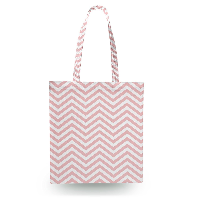 Chevron Stripes Canvas Tote Bag