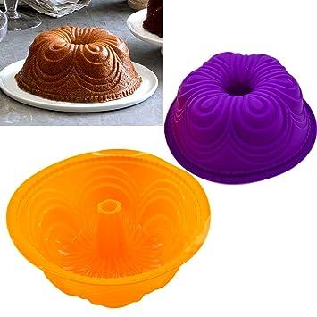 Silicona molde para sartenes molde para latas - diseño abstracto para tartas - caja redonda tarta de cumpleaños tarta Pan molde redondo para tarta molde de ...