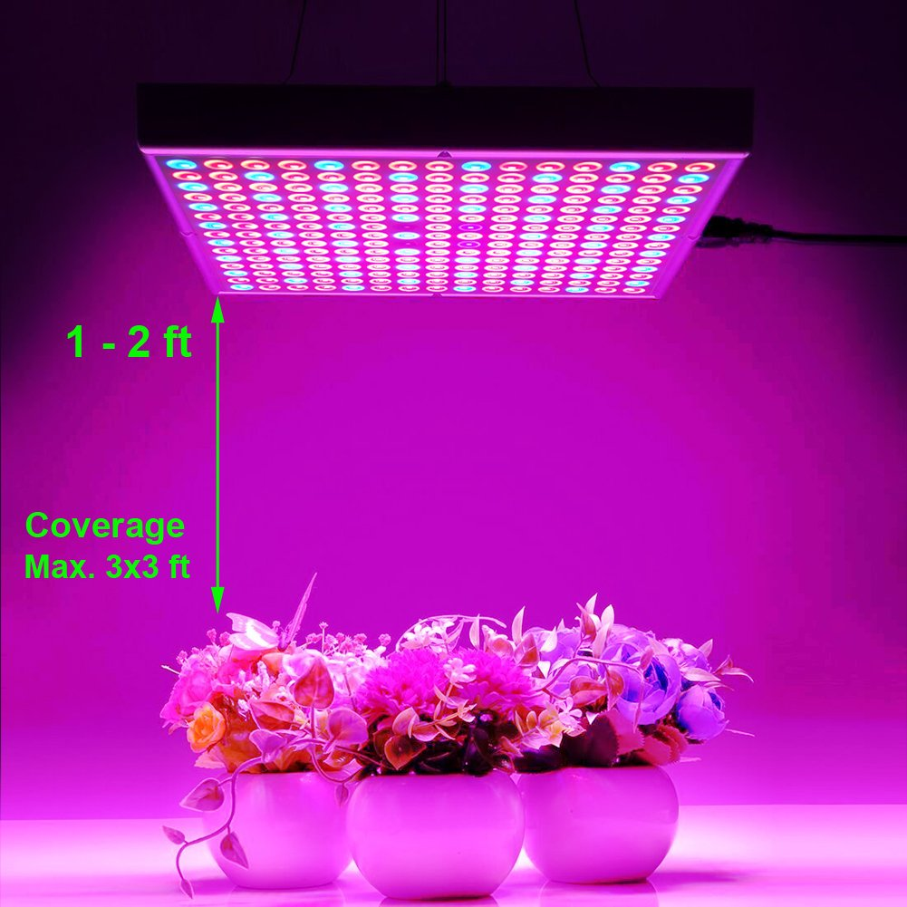 45W LED Grow Light for Indoor Plants Growing Lamp 225 LEDs UV IR Red Blue Full Spectrum Plant Lights Bulb Panel for Hydroponics Greenhouse Seedling Veg and Flower by Venoya by i-Venoya (Image #4)