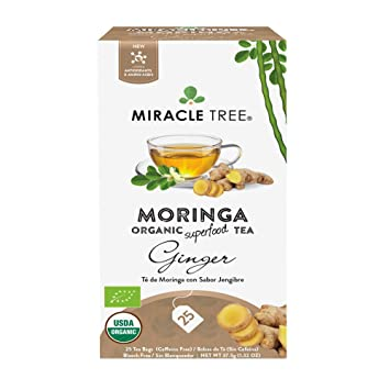 Amazon.com : Miracle Tree - Organic Moringa Superfood Tea, 25 Individually Sealed Tea Bags, Blueberry : Grocery & Gourmet Food
