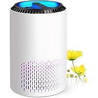 Purificador de aire con H13 HEPA, Air Purifier hasta 20 m², elimina el 99,97% de partículas, ámpara UV e Función…