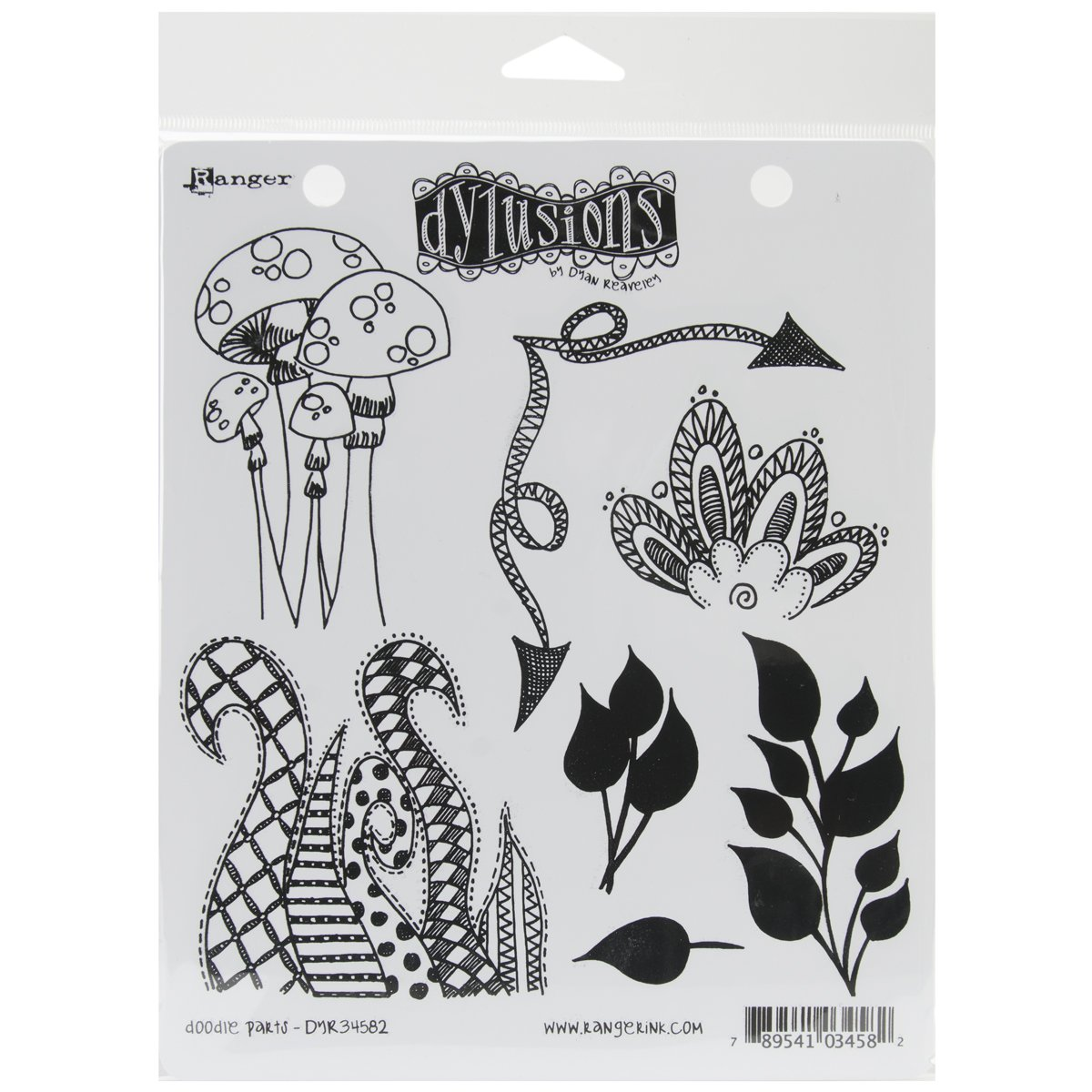 Ranger Dyan Reaveley's Dylusions Cling Stamp Collections, 8.5 by 7-Inch, Doodle Parts DYR-34582