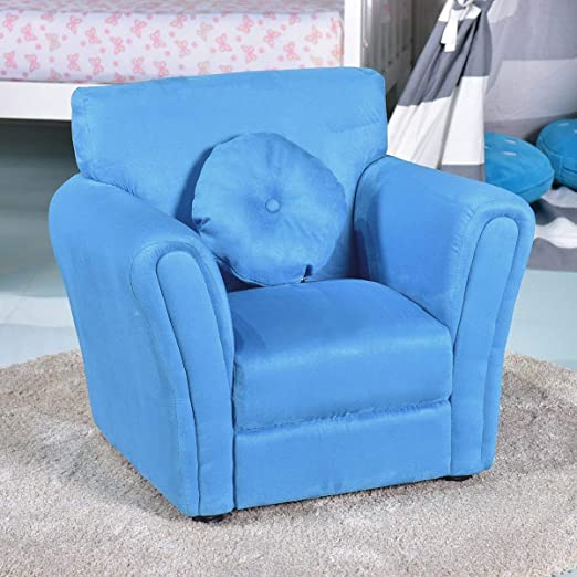 Kids Childrens Upholstered Armchairs Girl Boy Bedroom Playroom Seating Chair Rose
