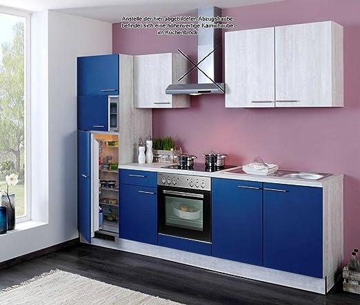 Küchenzeile Einbauküche Komplettküche mit E-Geräten Küchenblock 270 ...