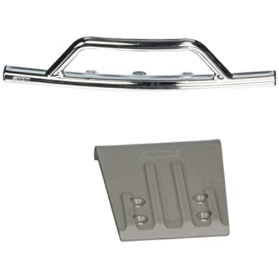 RPM Front Bumper and Skid Plate for 2WD Slash, Nitro Slash, Chrome: Toys & Games
