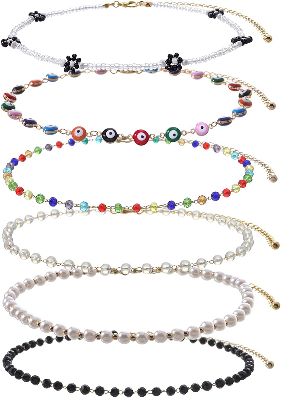 gift for her agate stone choker minimal beaded choker boho choker elegant beaded necklace dainty choker Brown beaded choker