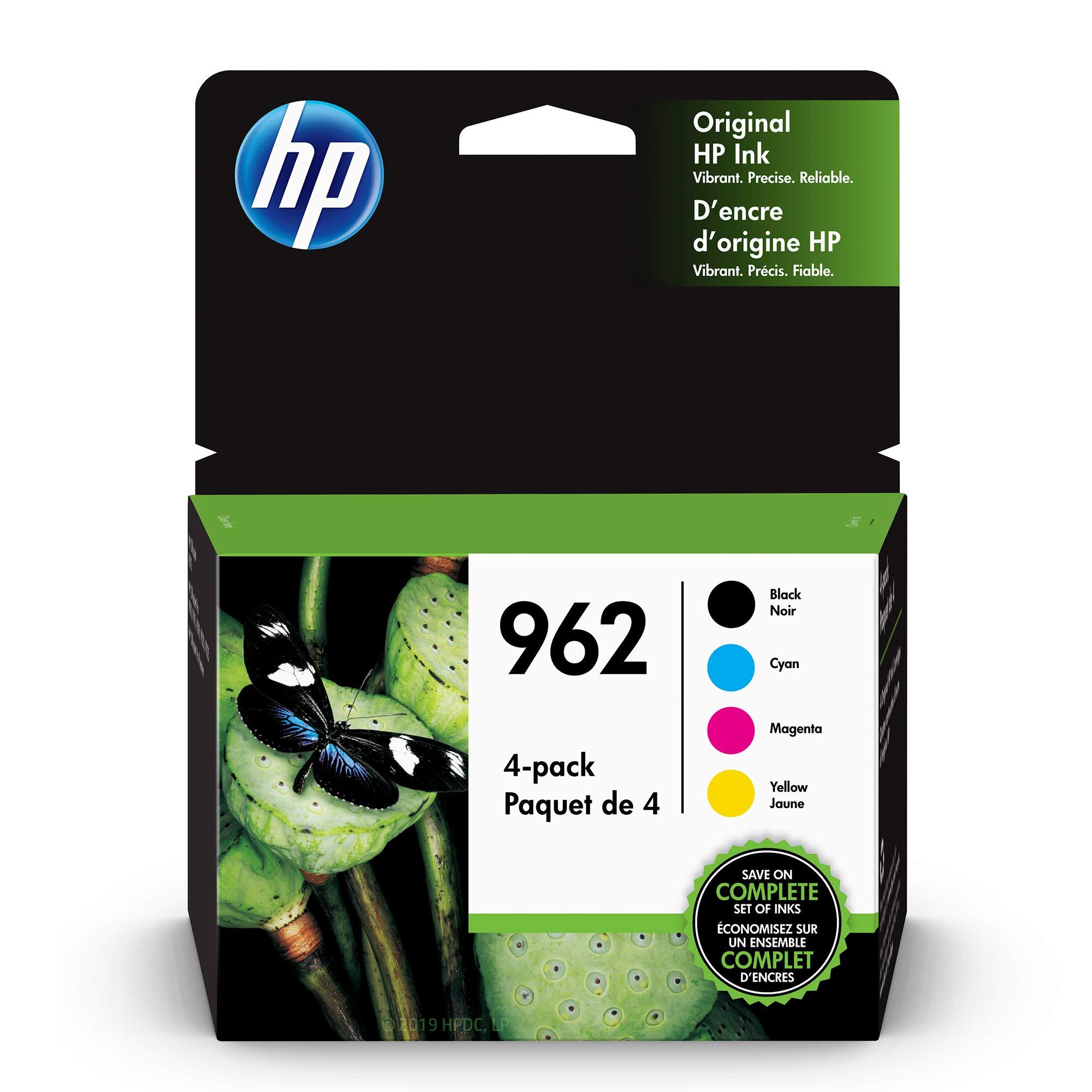HP 962 | 4 Ink Cartridges| Black, Cyan, Magenta, Yellow | 3HZ99AN, 3HZ96AN, 3HZ97AN, 3HZ98AN by HP