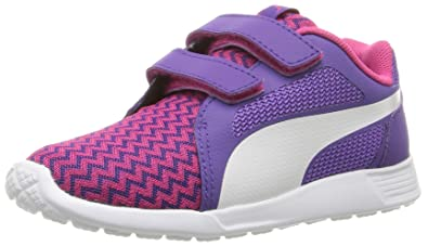 3d952a594efb PUMA Girls  ST Trainer Evo Techtribe V Inf Sneaker Beetroot Purple White