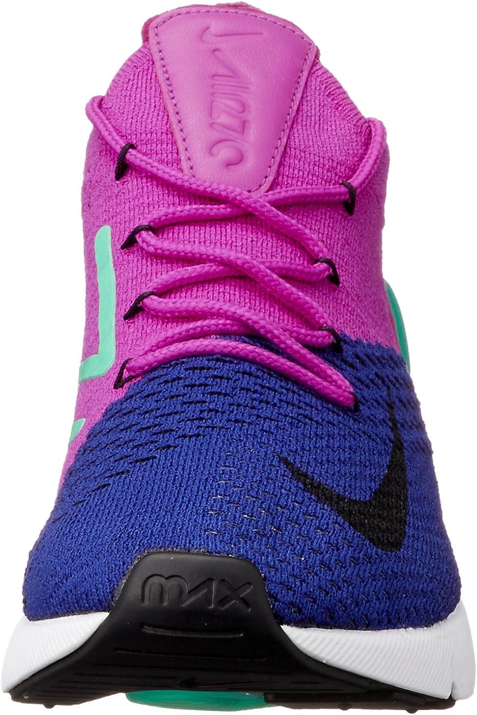 matiz eficacia asiático  Amazon.com | Nike Air Max 270 Flyknit Deep Royal Blue/Black | Road Running