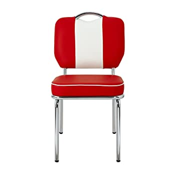 Presley Chaise Rouge Et Blanche