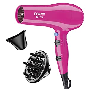 Conair 1875 Watt Full Size Ionic Conditioning Hair Dryer, Pink (packaging may vary)