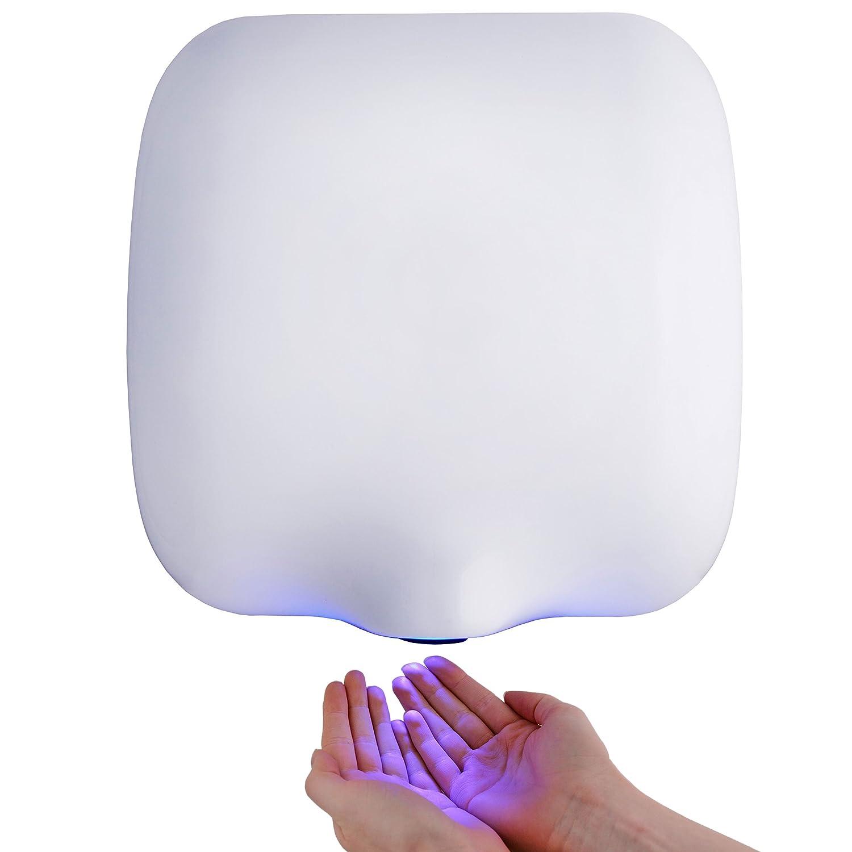 I-FORCE ECO DRY AUTOMATIC HIGH SPEED HAND DRYER ELECTRIC HEAVY DUTY - WHITE STEEL Washroom Hub
