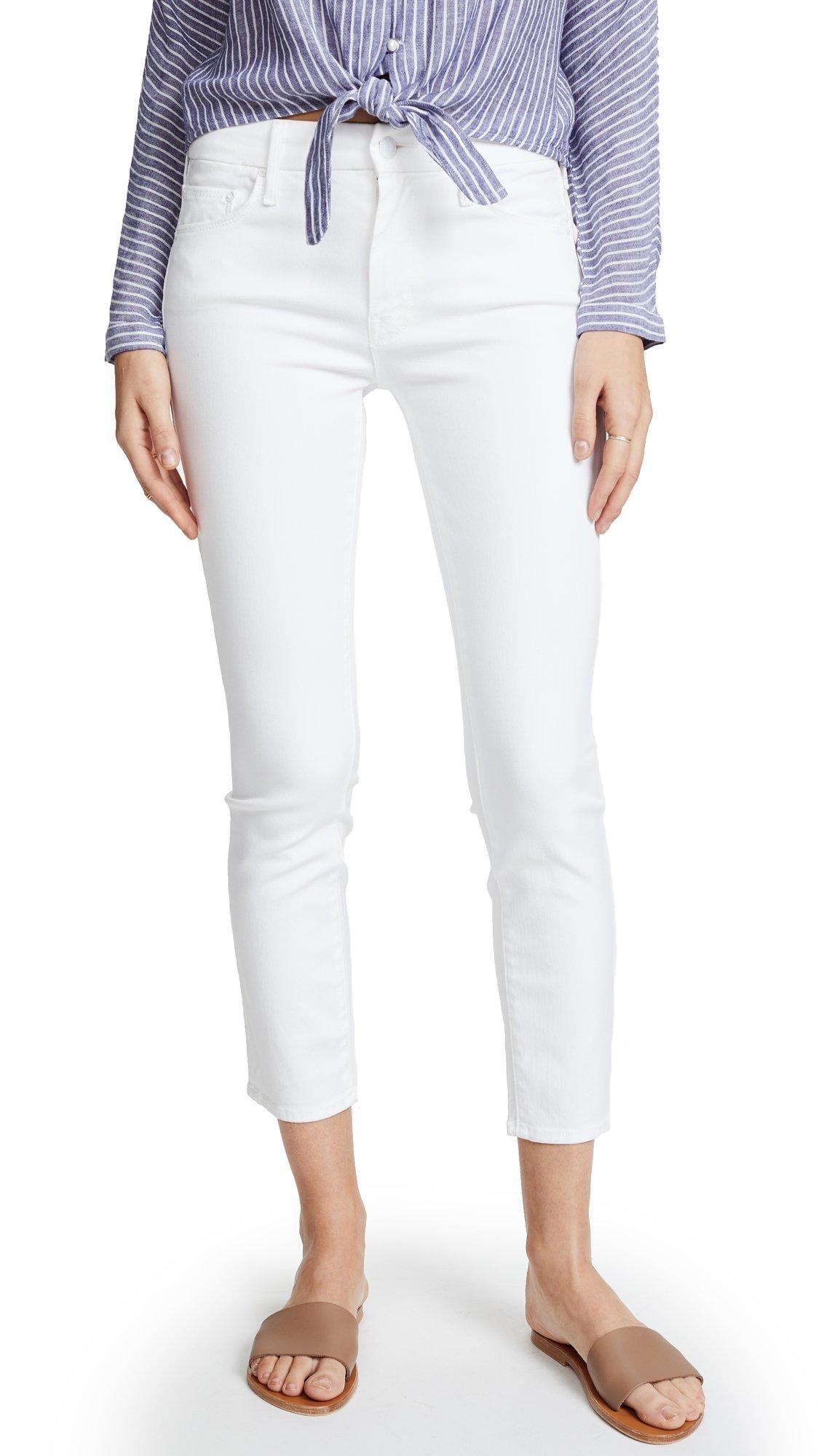 MOTHER Women's looker Crop Skinny Jeans, Glass Slipper, 30