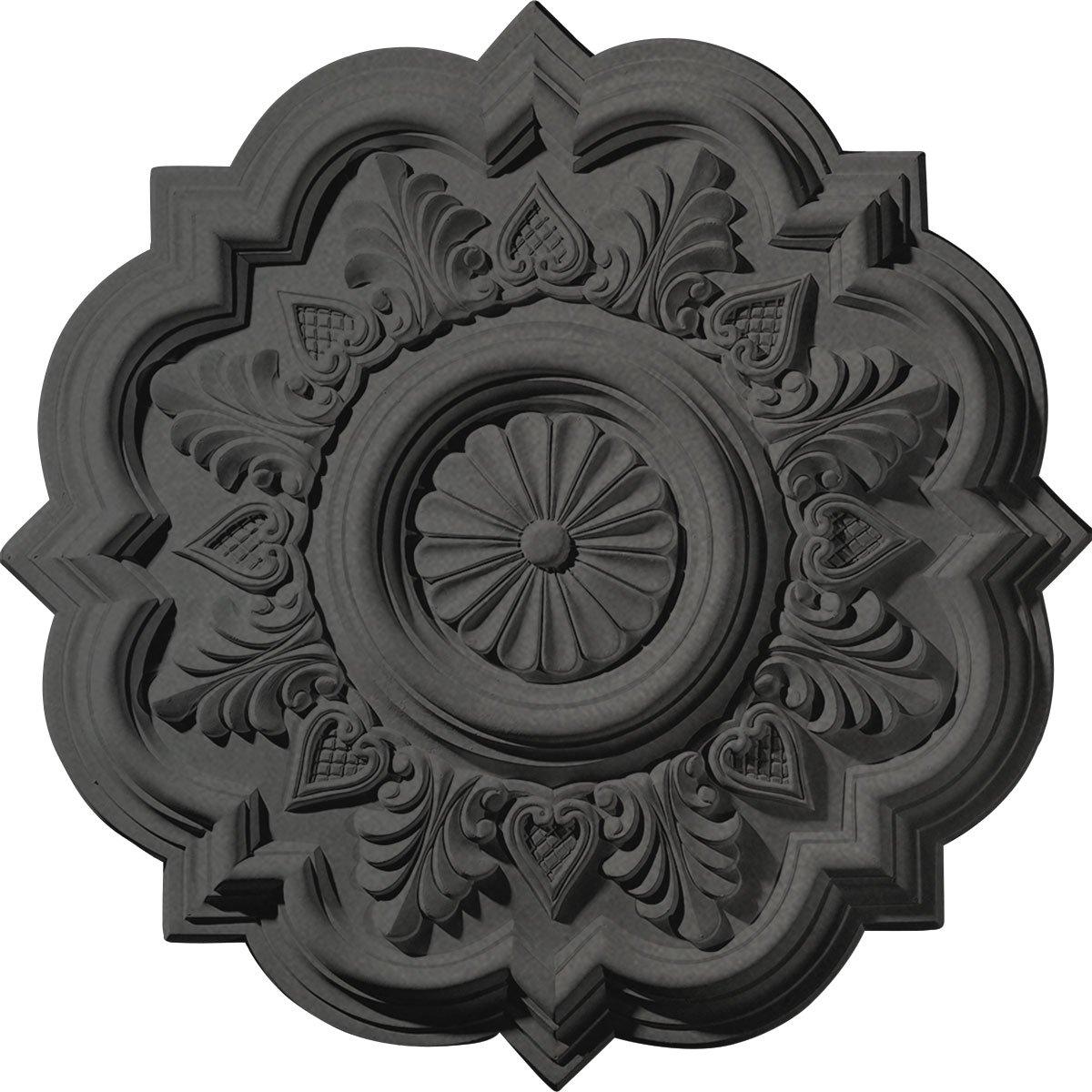 Ekena Millwork CM20DRSGS Deria Ceiling Medallion fits Canopies up to 6'', Steel Gray