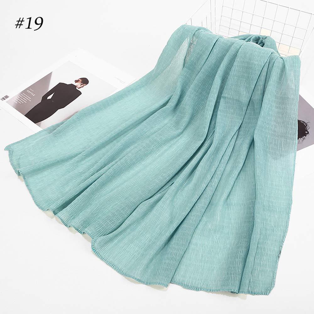 Jonecal Clearance Muslim Scarf Women Fashion Retro Cotton Multipurpose Shawl