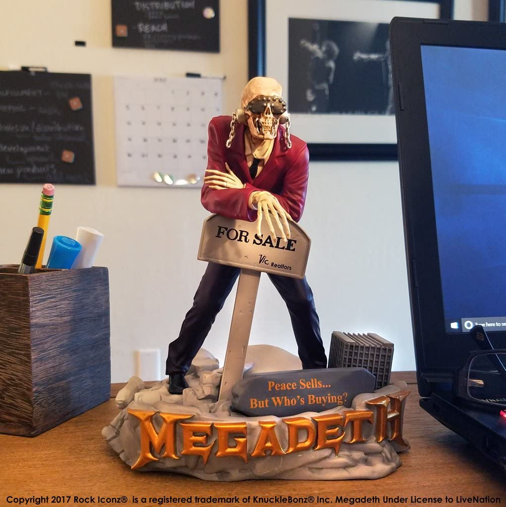 Statue KNUCKLEBONZ Megadeth Peace Sells Vic Rattlehead Rock Iconz Limited Edit