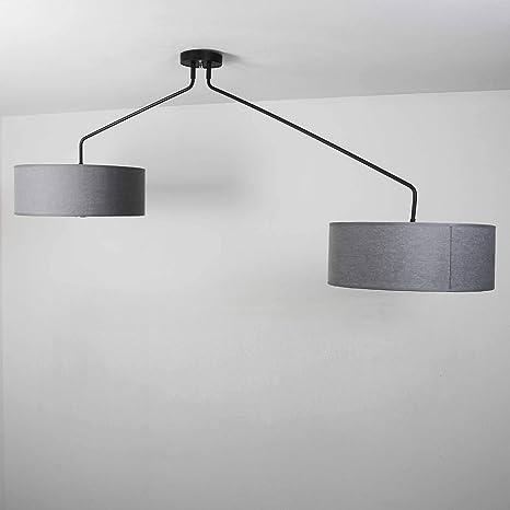 XXL - Lámpara de techo Salón/gris/lámpara de techo con ...