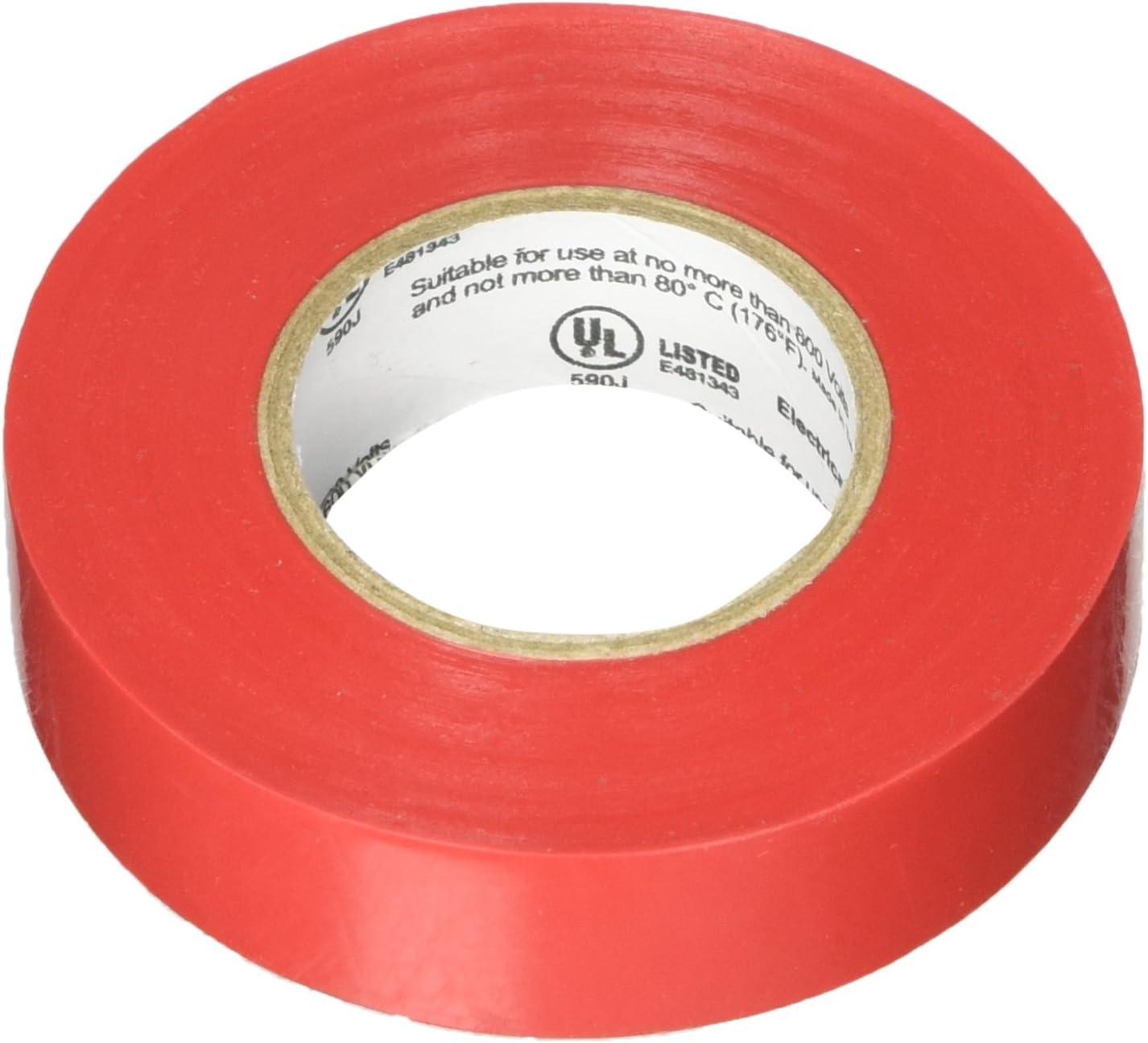 PVC 7mil Protak Color Electrical Tape 3//4 width x 60 length Black 1 Roll