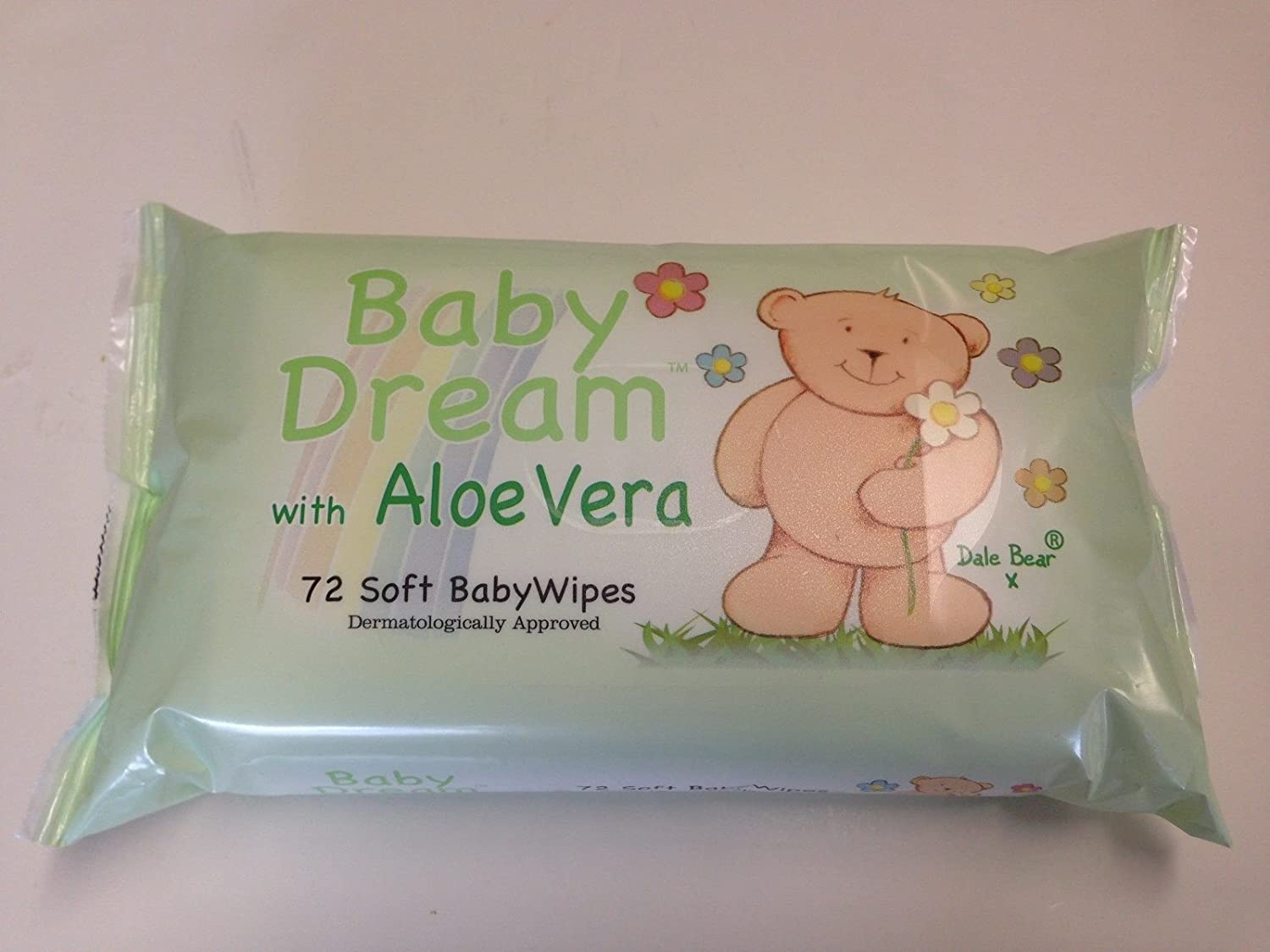 12 X BABY DREAM SOFT BABY WIPES WITH ALOE VERA 72 WIPES IN EACH PACK DALE