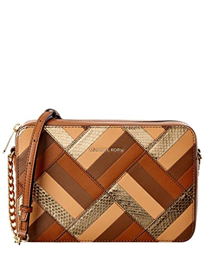 b9f4ca827377 Michael Michael Kors Marquertry Patchwork Large Leather Crossbody, Brown:  Handbags: Amazon.com