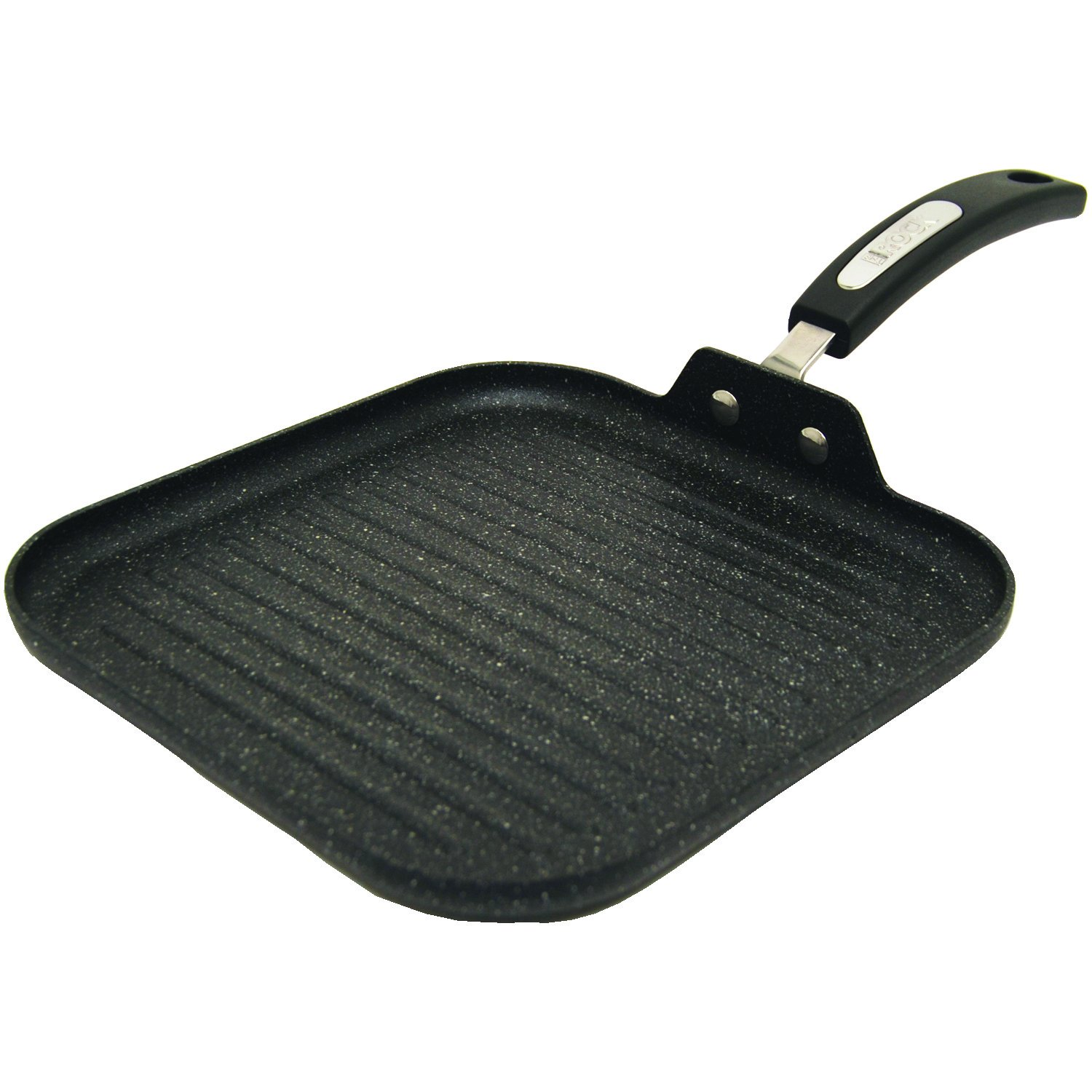 The Rock(tm) By Starfrit(r) 030321-006-000 10'' Grill Pan with Bakelite(R) Handles (R), 18.75''x10.25''x3.5''
