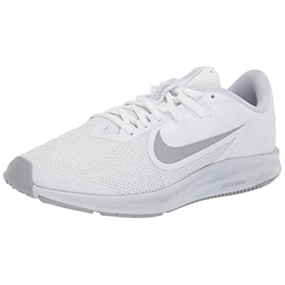 Nike Women's Downshifter 9 Running Shoe, White/Wolf Grey-Pure Platinum, 8.5 Regular US | Road Running