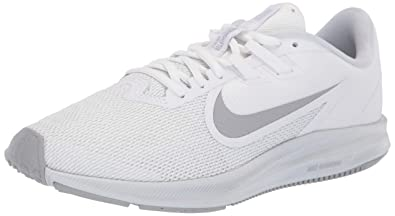 4707a3bbca4b4 Nike Women's Downshifter 9 Running Shoe, White/Wolf Grey-Pure Platinum, 8.5  Regular US