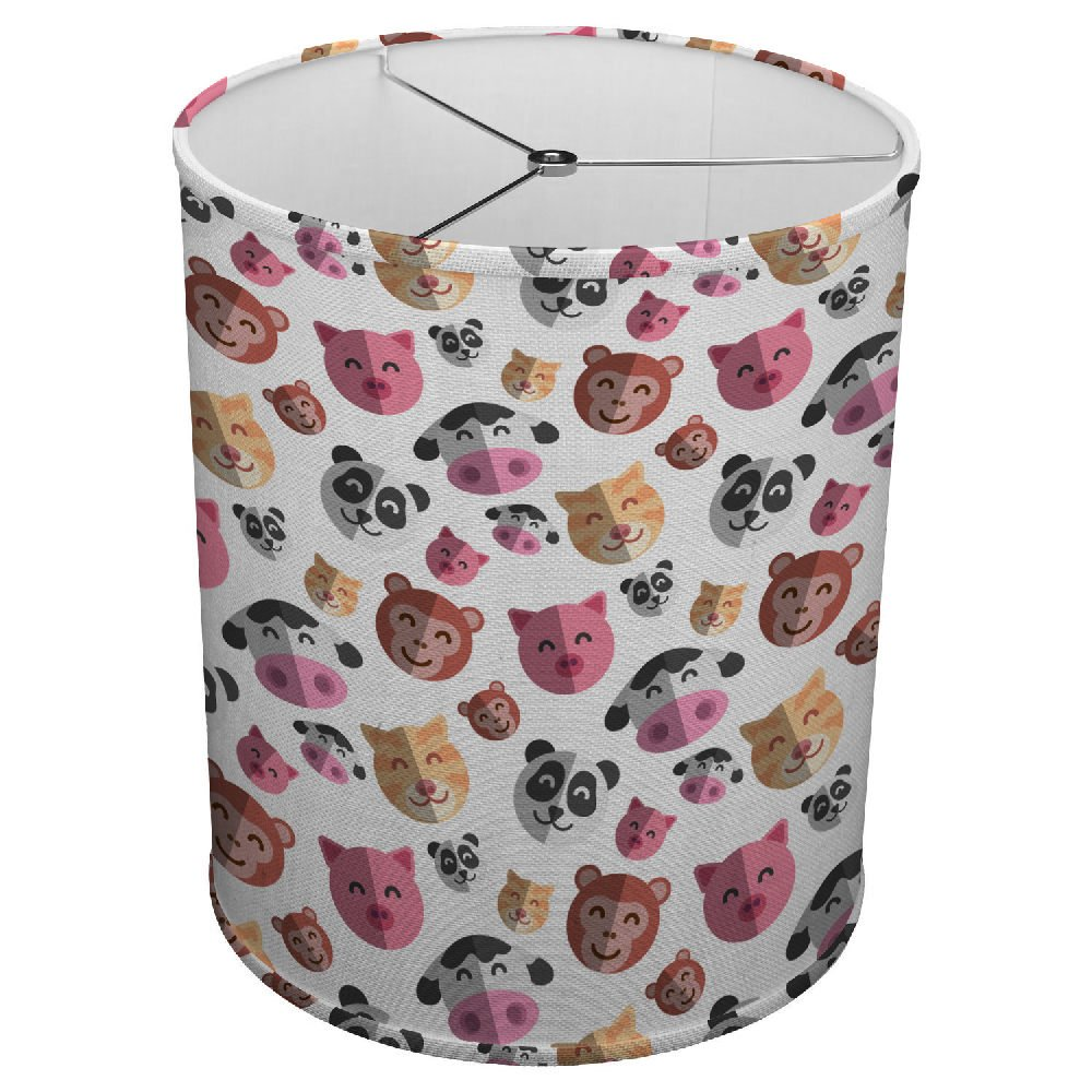 Hardback Linen Drum Cylinder Lamp Shade 8'' x 8'' x11'' Spider Construction [ Nice Animals ]