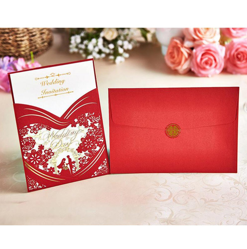 Colorful Tissue Paper In Wedding Invitations Composition ...