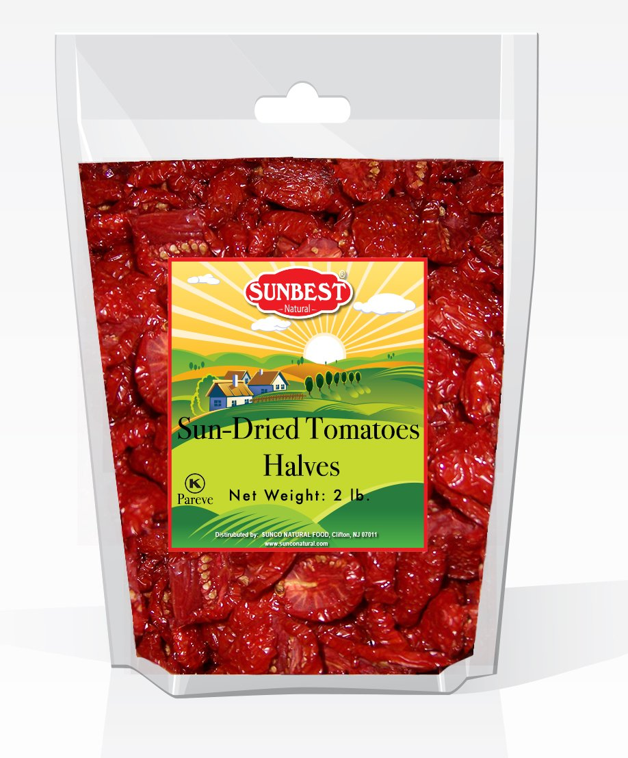 SUNBEST Sun-Dried Tomatoes in Resealable Bag (Halves, 2 Lb)