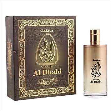 05f3ad5cb Mukhallat Al Dhabi by Al Hunaidi Arabic Perfume 100ml: Amazon.ae ...