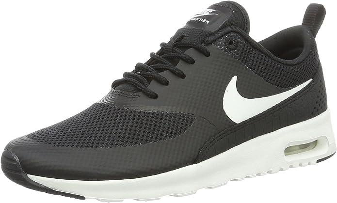 Nike Air Max Thea Sneakers Damen Schwarz mit weißen Streifen