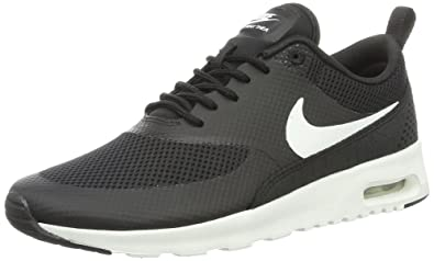 new style 33597 0abb9 Nike Womens Air Max Thea Running Shoes Black White 599409-020 Size 8