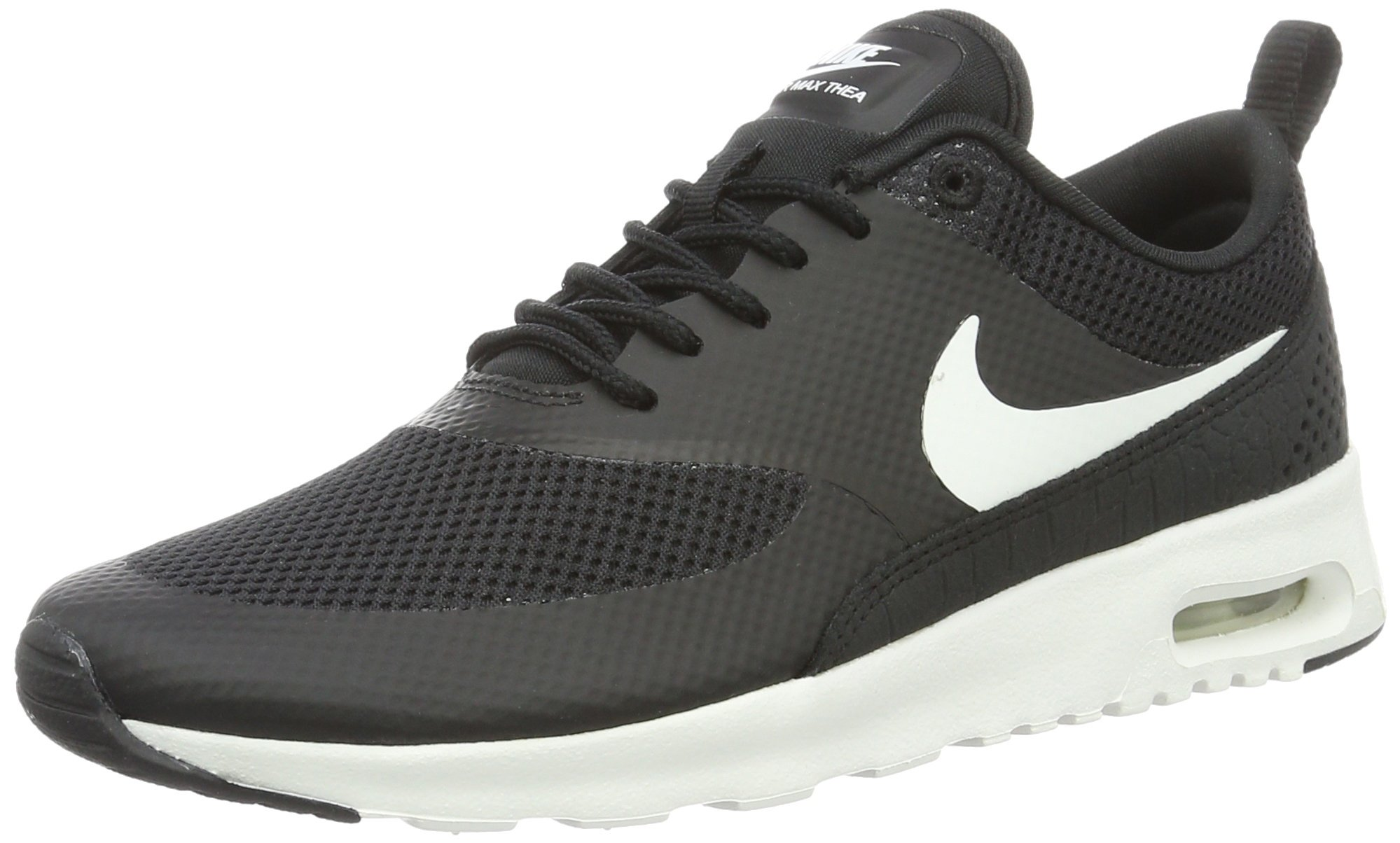 promo code 84ab5 bd093 Galleon - Nike Womens Air Max Thea Low Top Lace Up Running, BlackSummit  White, Size 8.0