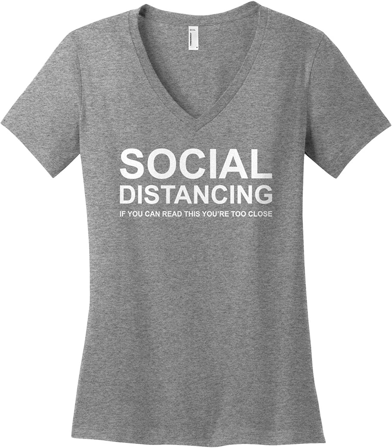 Women's Social Distancing If You Can Read This V-Neck T-Shirt