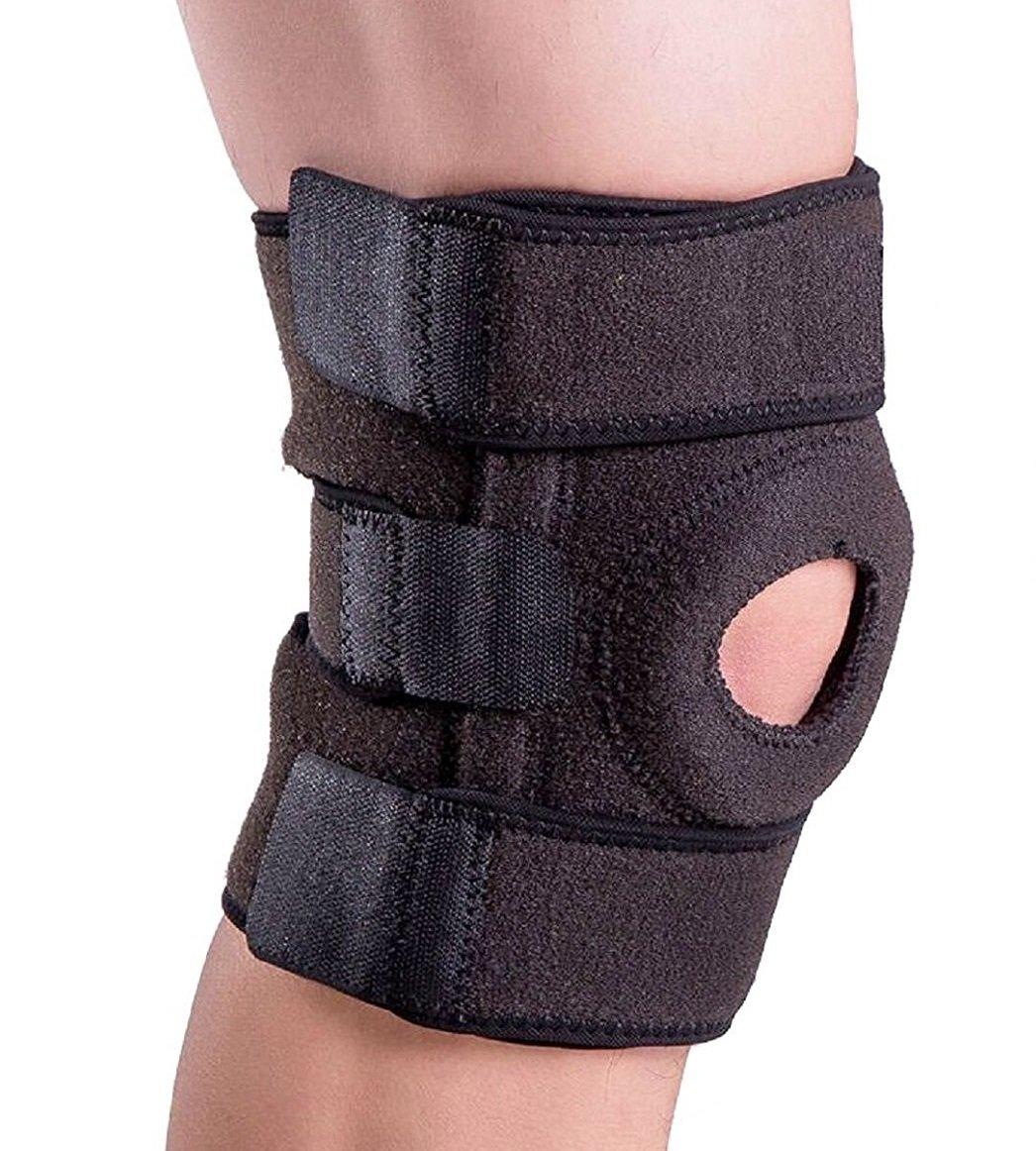 Amotus professionale neoprene ginocchiera completamente regolabile Protector Ginocchio traspirante asciutto, Aperto Patella ginocchiere per sollievo dal dolore da menisco, artrite e ACL, calcio sport