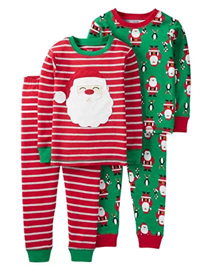 ce90eee4c Amazon.com  Just One You Made by Carter s Baby Boys  4 Piece Santa ...