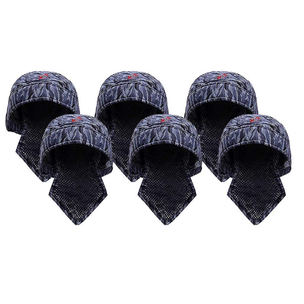 Mesh Liner 6Pcs Unisex Welding Hat Electric Welding Cap Scarf Helmet Protective Head Accessories