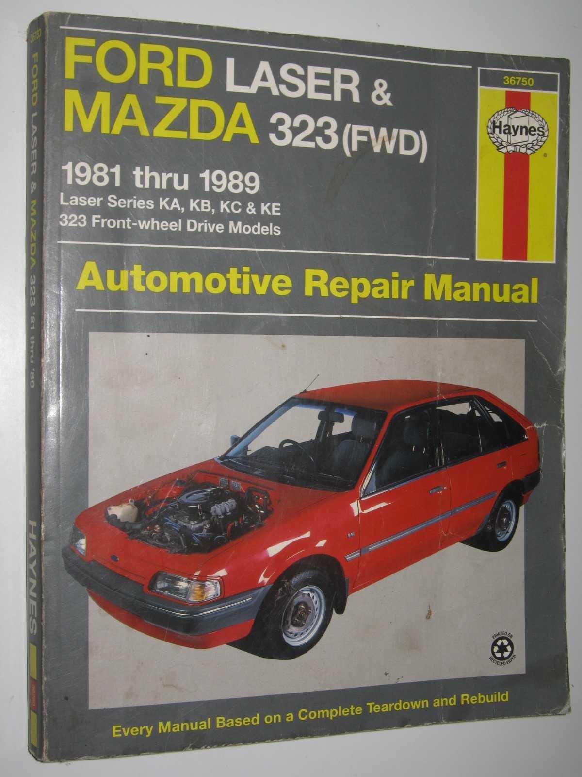 Ford Laser and Mazda 323 (FWD) Australian Automotive Repair Manual: 1981 to  1989 (Haynes Automotive Repair Manuals): Amazon.co.uk: L.Alan LeDoux, ...