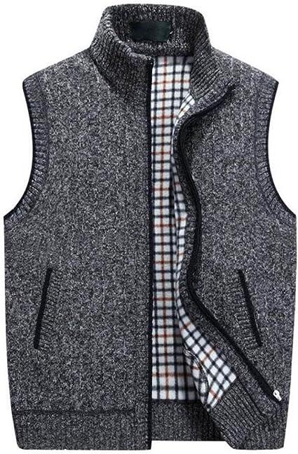 TALLA 4XL. GKKXUE Chaleco de lana de punto de los hombres,Chaleco de cumpleaños de padre de tamaño M a XXXXL (Color : Gris oscuro, Tamaño : XXXXL)