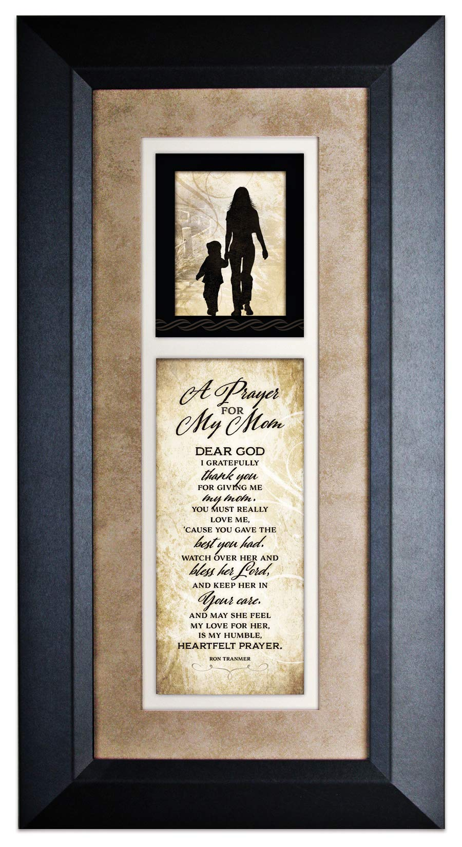 Dexsa A Prayer for My Mom Wood Wall Art Frame Plaque | 8 inches x 16 inches | Hanger for Hanging | Dear God I Gratefully Thank You for Giving me My Mom James Lawrence by Dexsa