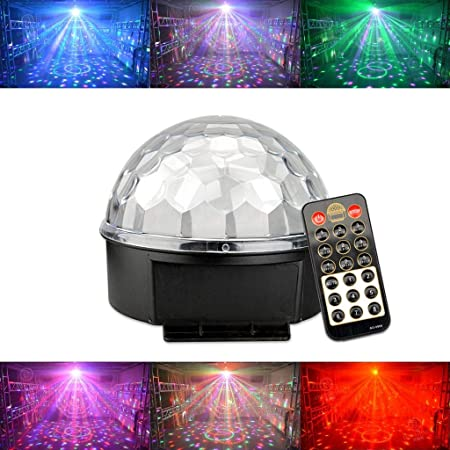 ⏰WTD Smart 7 Lens Head Move Party Par Light, 360 Rotar 4 en 1 ...
