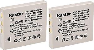 Kastar Compatible Battery 2-Pack Replacement for Fujifilm NP-40, NP-40N, Panasonic CGA-S004, CGA-S004A, CGA-S004E, CGR-S001B, DMW-BCB7, Kodak KLIC-7005, Samsung SLB-0737, SLB-0837, Sanyo NP-40, D-Li8