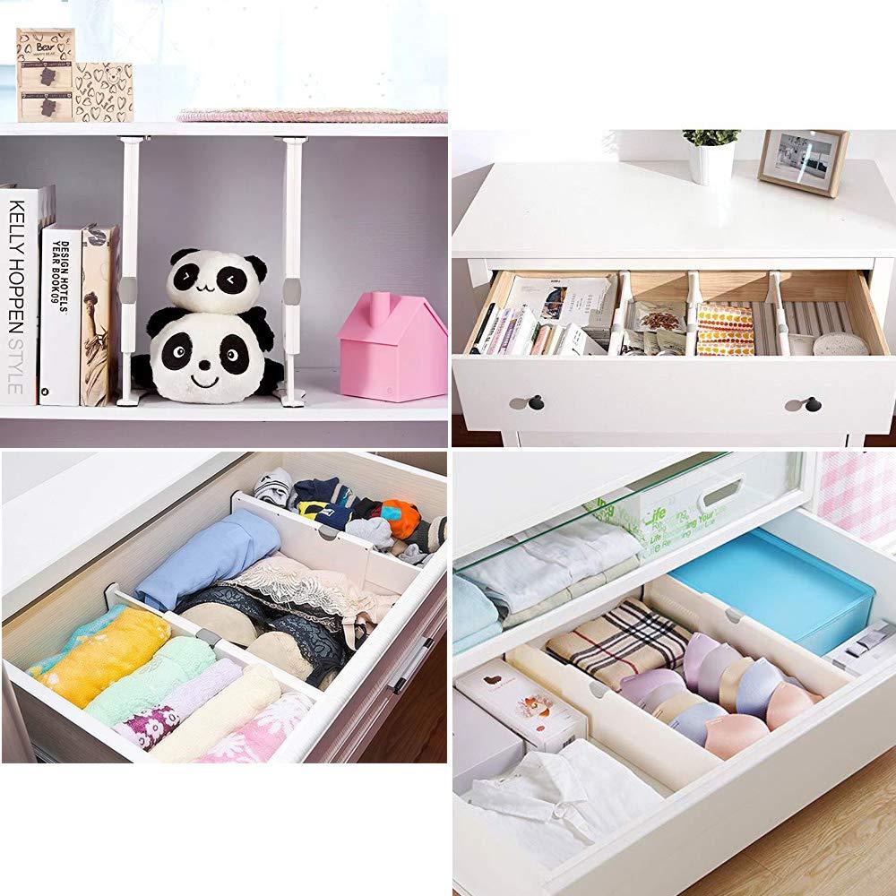 ausgew/ählte verstellbare tiefe Schubladen-Organizer-Set B/üro und Kommode Badezimmer geeignet f/ür K/üche Wei/ß Schlafzimmer 3 x ausziehbare Schubladenteiler A+ 3 St/ück