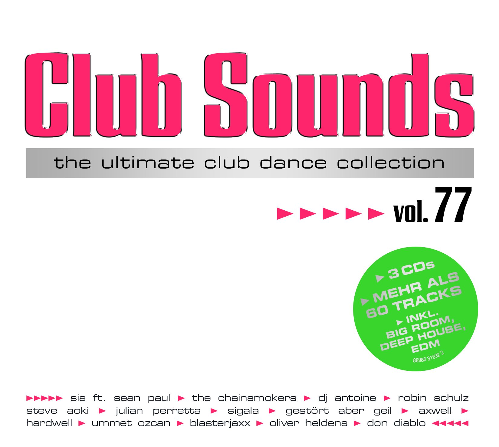 VA-Club Sounds The Ultimative Club Collection Vol. 77-3CD-FLAC-2016-VOLDiES Download