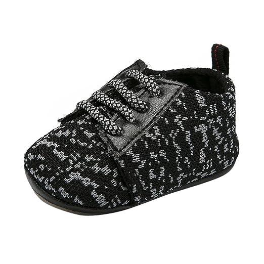 c955a47e8f7a1 Amazon.com  Newborn Infant Baby Girls Boys Walking Shoes 0-18 Months ...