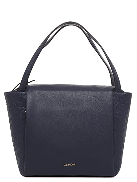 c8a0f450fb Borsa donna Calvin Klein Jeans Mish4 Large tote Blu: Amazon.it ...