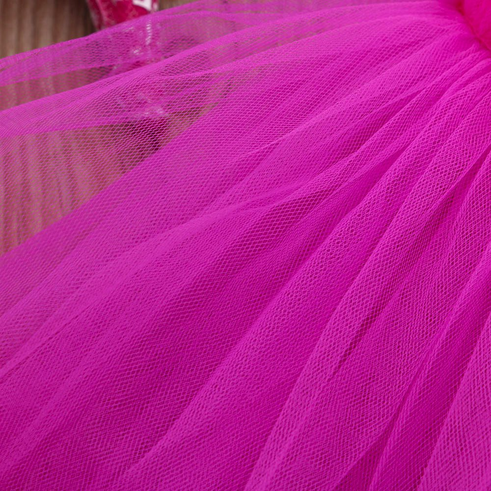 2-6 Years Toddler Girl's Ballet Dress Cute Tutu Dance Dress Gymnastics Strap Sweetheart Leotard Clothes Outfits (Hot Pink, 6T(6 Years)) by Cealu (Image #6)